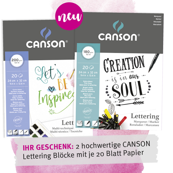 CANSON Lettering Mix Media Block und CANSON Lettering Marker Block im Set