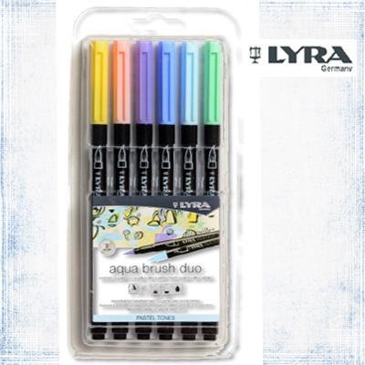 LYRA Aqua Brush Duo Pastel Set 6 Stk.