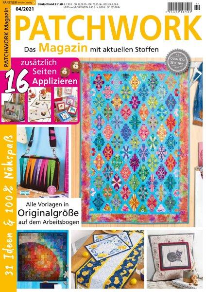 Patchwork Magazin 4/2021 - 16 zusätzlich Seiten Applizieren Printausgabe oder E-Paper