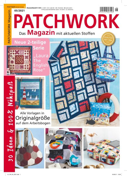 Patchwork Magazin 5/2021 - 30 Ideen & 100% Nähspaß Printausgabe oder E-Paper