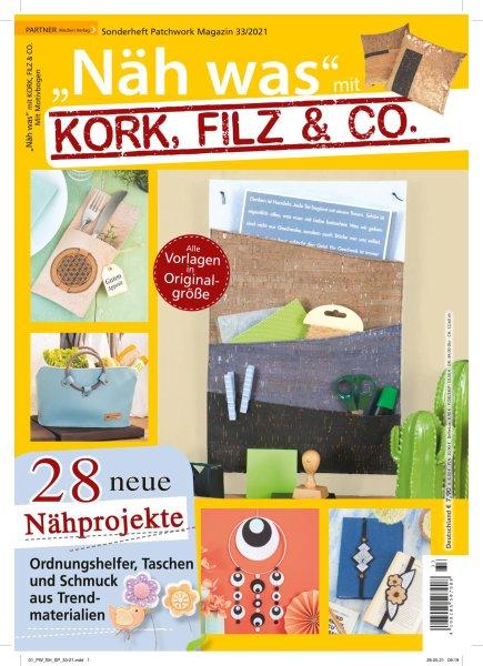 Näh was mit Kork, Filz & Co. - Patchwork Magazin Sonderheft 33/2021 Printausgabe oder E-Paper
