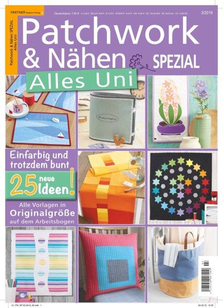 Patchwork und Nähen 3/2019 - Alles Uni